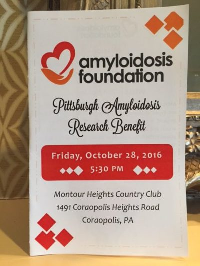 Pittsburgh Amyloidosis Research Benefit – A Major Success